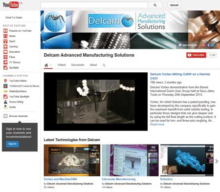 Delcam Advanced Manufacturing Solutions YouTube Channel Tops