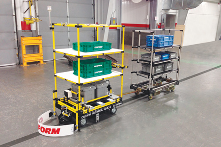 Agv Tugger With Shelves Provides Ability To Tow Carts
