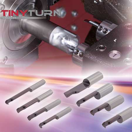 Tungaloy Introduces Tinyturn Solid Carbide Boring Bars