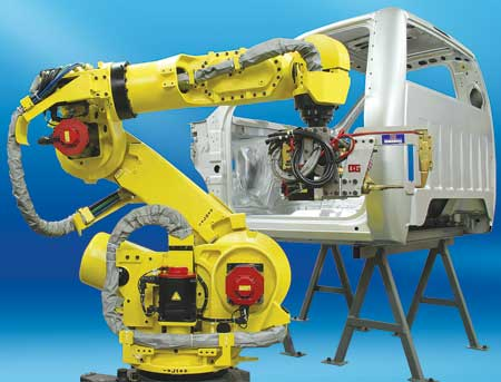 Cable Integrated Spot Welding with Robot